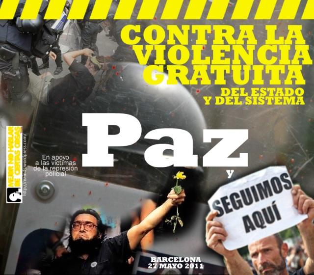 barcelona, 27 de mayo, 2011, mossos, acampadabcn