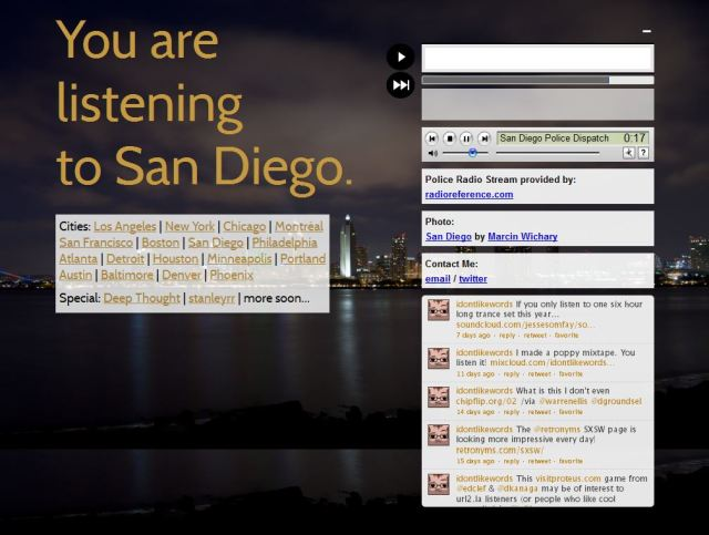 You are listening to San Diego